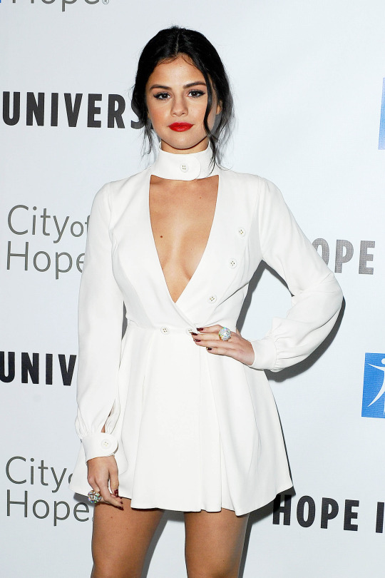 , Santa Monica , CA - 11/5/15 - 2015 Spirit Of Life Gala hosted by The City Of Hope -PICTURED: Selena Gomez -PHOTO by: Vince Flores/startraksphoto.com -VIF51422 Editorial - Rights Managed Image - Please contact www.startraksphoto.com for licensing fee Startraks Photo New York, NY Image may not be published in any way that is or might be deemed defamatory, libelous, pornographic, or obscene. Please consult our sales department for any clarification or question you may have. Startraks Photo reserves the right to pursue unauthorized users of this image. If you violate our intellectual property you may be liable for actual damages, loss of income, and profits you derive from the use of this image, and where appropriate, the cost of collection and/or statutory damages.