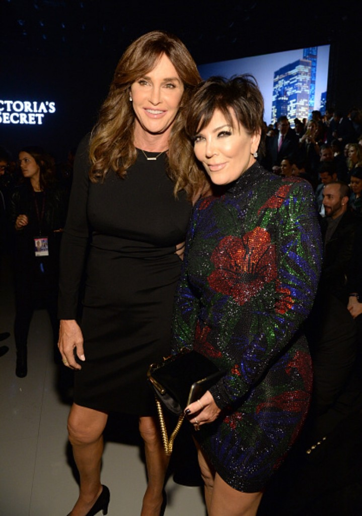 NEW YORK, NY - NOVEMBER 10:  Caitlyn Jenner and Kris Jenner attend the 2015 Victoria's Secret Fashion Show at Lexington Armory on November 10, 2015 in New York City.  (Photo by Kevin Mazur/WireImage)