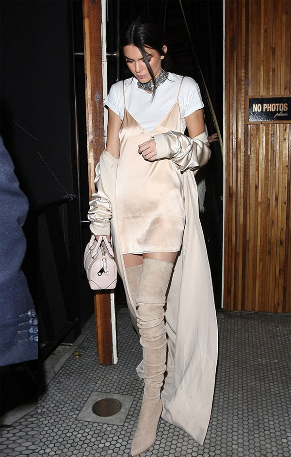 kendall-jenner-tshirt-under-dress-street-style